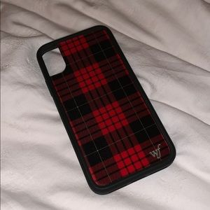 Red Plaid iPhone X/Xs Wildflower Case